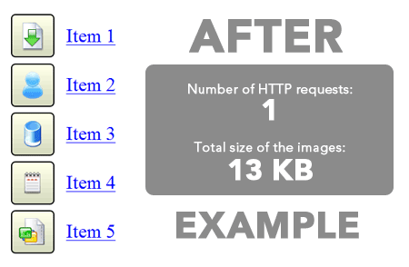 css sprites example 2 How to Improve Website Performance Using CSS Sprites