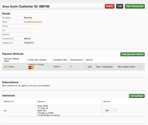 Customer Record Page 571 Integrating BrainTree Payment Gateway With PHP