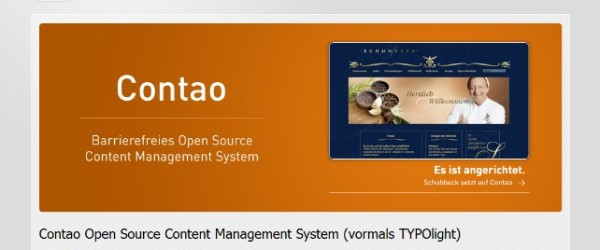 Contao CMS 600x250 12 Most Popular PHP Based Content Management Systems