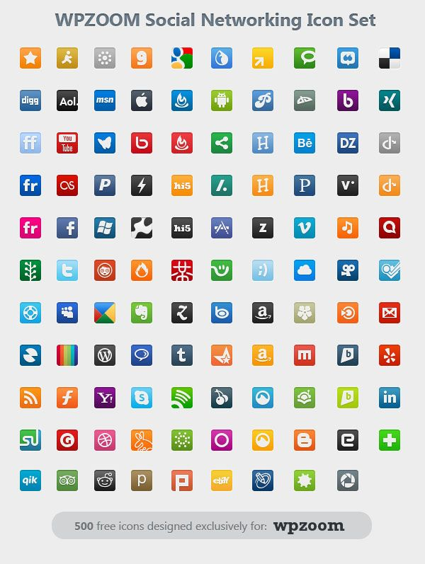 wpzoom social networking icons